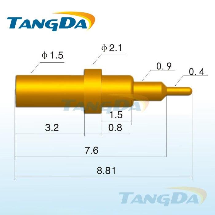 Tangda-موصل دبوس pogo ، للهاتف الخلوي ، مقاوم منخفض 1 أمبير ، بطارية ، زنبرك شحن ، DHL/EMS D2.1 * 8.81 مللي متر