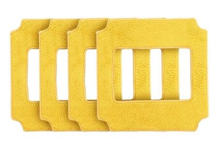 4 قطعة مماسح للروبوت مُنظف نوافذ win660/RL880/RL1188 منظف زجاجي ، 4 قطعة مماسح أصفر