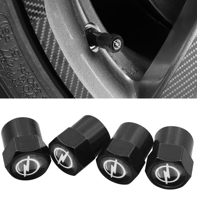 4 stücke schwarz metall Auto Rad Reifen Ventil Kappe abdeckung air Cap Fall Für OPEL Corsa Insignia Astra Antara Meriva auto styling Zubehör