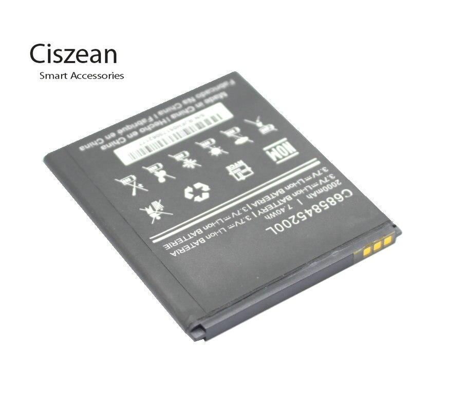 Ciszean 1x 3.7V 2000mAh Replacement C685845200L Li-ion Battery For BLU BLU Studio C HD S090Q S090 batteries