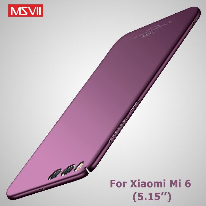 MSVII Cases For Xiaomi Mi6 Case Slim Matte Cover For Xiaomi Mi 6 X A2 Case Xiomi 6X A2 Hard PC Cover For Xiaomi Mi 6X Mi6X Cases