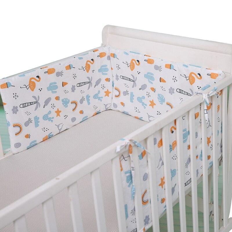 Parachoques desmontable en forma de U para cama de bebé, parachoques desmontable de algodón para cama de recién nacido, 180cm de longitud, Cerca Segura para niños, cojín Protector para cuna