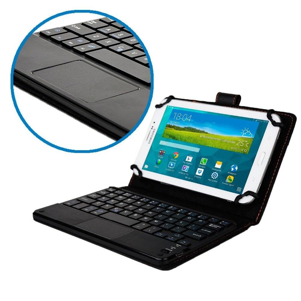 Universal desmontable teclado Bluetooth con Touchpad funda de piel para Asus ZenPad 8,0 Z380KL Z580CA ME181C ME581C FE380CG M80TA