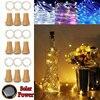 2 قطعة 2 متر الشمسية الفلين النبيذ مثبت زجاجي خيط سلك نحاسي أضواء الجنية مصابيح مصباح ديكور سلسلة أضواء مجموعة 40JA11