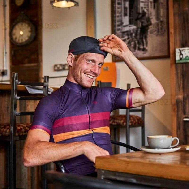 2018 Mens Club Cycling Jersey Summer Short Sleeve Breathing MTB Bike Racing Shirt Multicolor stripe pattern rideshirt quick dry