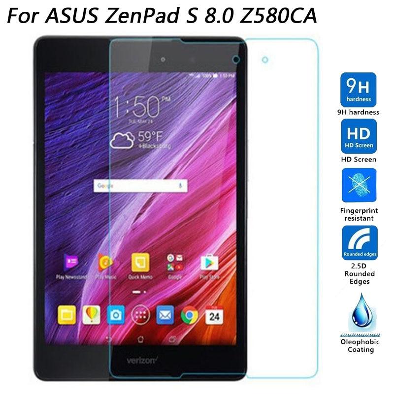 Vidrio templado para Asus ZenPad 3/Z8/ZT581KL Z581KL/ZenPad3 8,0 pulgadas/ZenPad S Z580 Z580CA película protectora para tableta Z580C