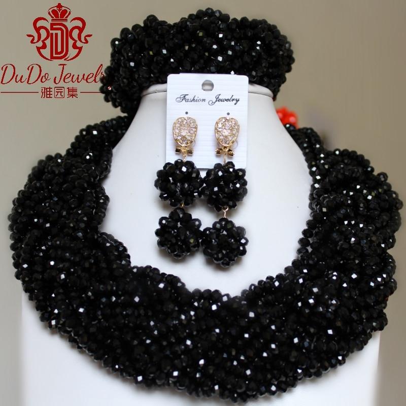 Женский комплект ювелирных изделий, Модный черный костюм в дубайском стиле
