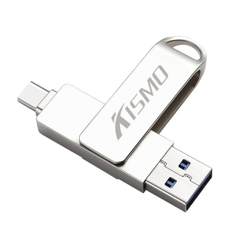 Kismo USB3.0 tipo-C Flash Drive 32gb 64gb de memoria OTG Pen Drive para Samsung S8 S9 Huawei P10 P20 amigo 20 tipo-C Pen drive