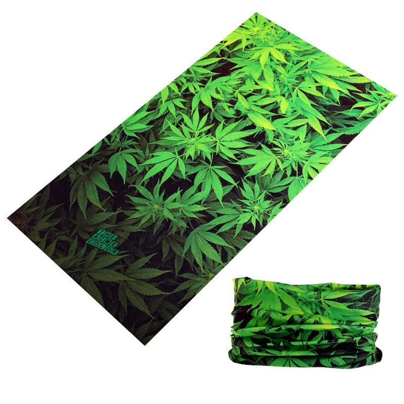 Pañuelos verde hojas 3D Unisex magia sin pañuelos pirata bufanda Buffe Bandana de ciclismo cuello pañuelo Hijab Shemag