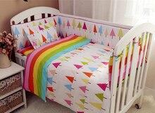 9PCS Full Set cotton Baby bedding ropa de cuna crib bedding set crib set 100% cotton,4bumper/sheet/pillow/duvet