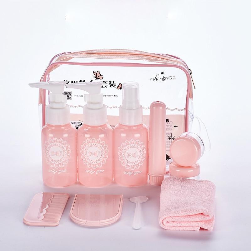 10 unids/set maquillaje botellas de Spray de Kits de Perfume loción, crema...