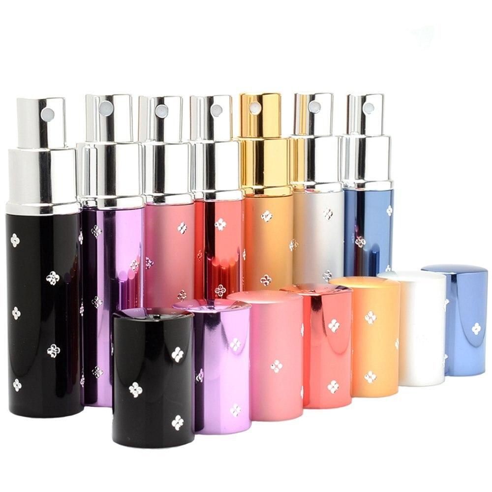 Aluminum Cover 10ml Perfume Sprayer Bottle Containers Atomizer for Eau De Toilette 10pcs/lot ZH1251