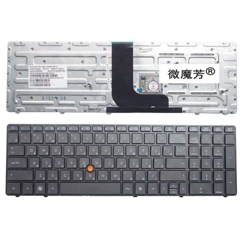 RU черный новый для HP Probook 8560W 8570W клавиатура для ноутбука русский