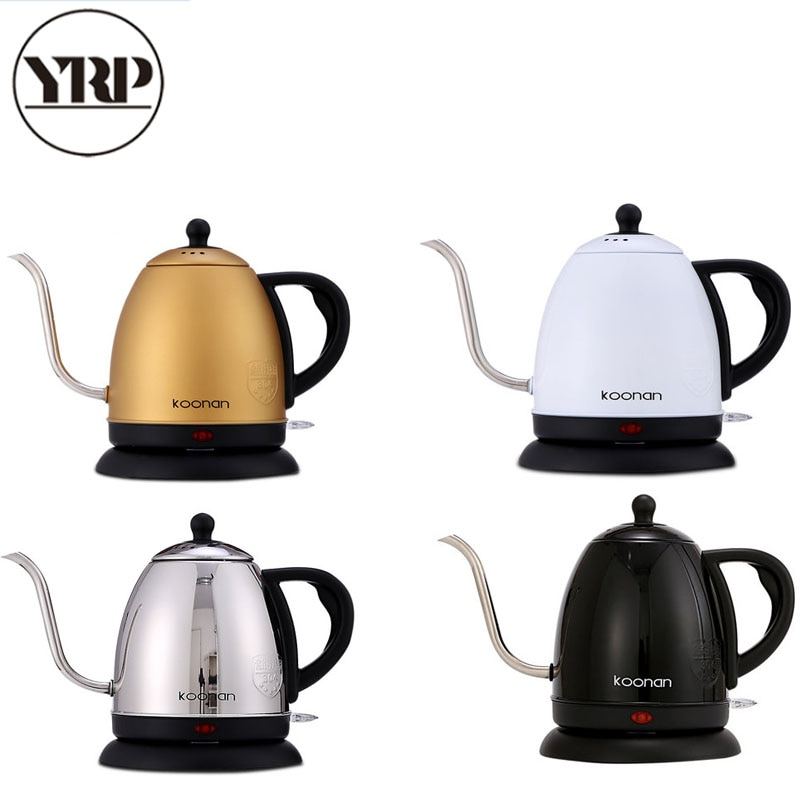 YRP-غلاية كهربائية من الفولاذ المقاوم للصدأ للقهوة ، صنبور تنقيط طويل ذو رأس منحنية ، صب على وعاء الحث ، إسبرسو ، قهوة وشاي باريستا