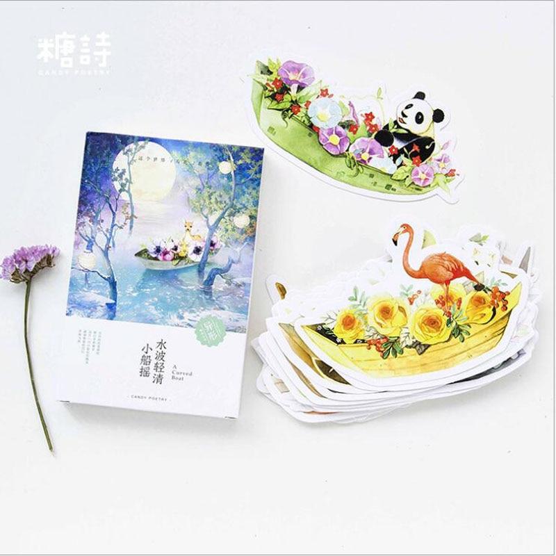 30pcs/lot New Boat/flower/animal design postcards Nice Stationry Greeting Cards Calendars Planner & Cards HG048