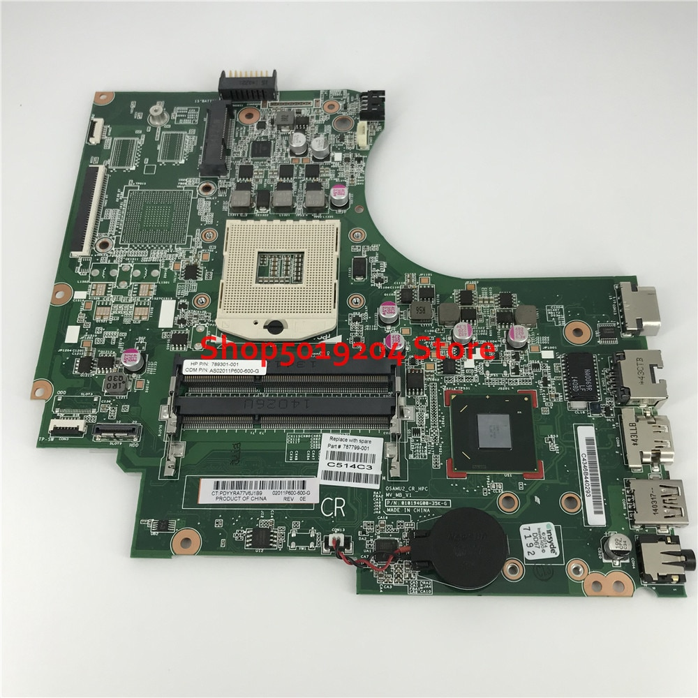 Mainboard 787799-001 789301-001 For HP Pavilion 15D 15-D 250 G2 250-G2 Laptop Motherboard SLJ8E HM76