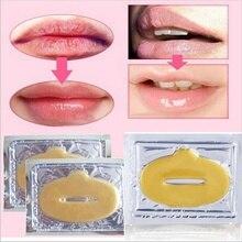 ELECOOL 10pcs  24k Gold Collagen Crystal Lip Mask Bionic Lip Masks Fashion Scrub Anti Wrinkle Moisturizing Lip Care Comsmetic