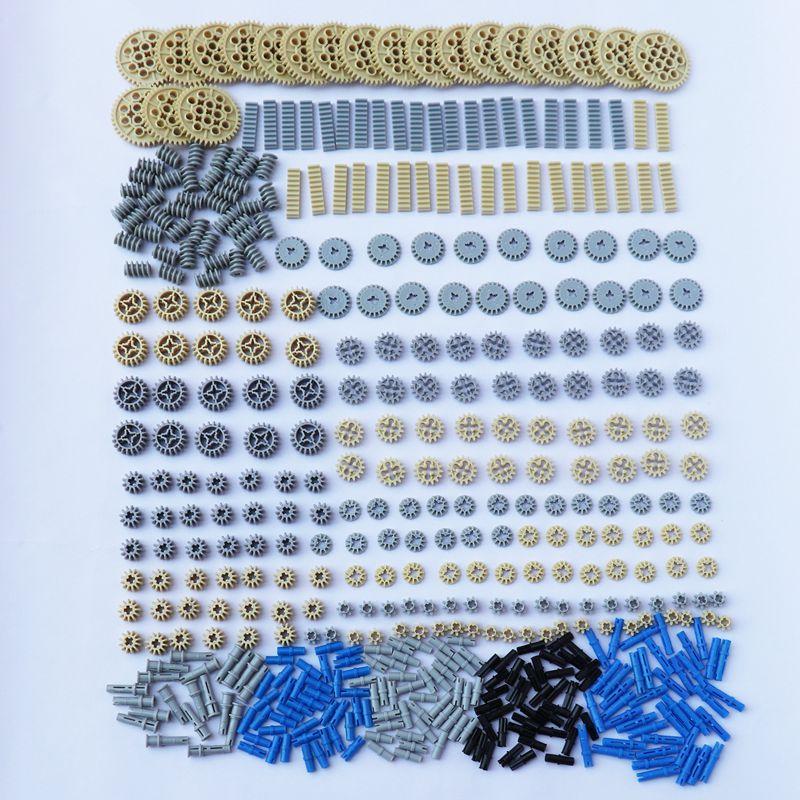 500pcs/set DIY Building Blocks Kits Technic Parts Technic Gears Connectors Self-Locking Blocks for Kids & Adult Making Robots