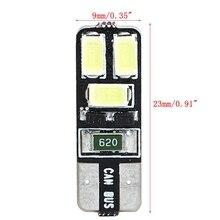 T10 5630 6SMD W5W مؤشر عرض ضوء فك عرض واسعة مصباح سيارة LED أضواء خارجية 6000K سيارة الضباب ضوء لمبة