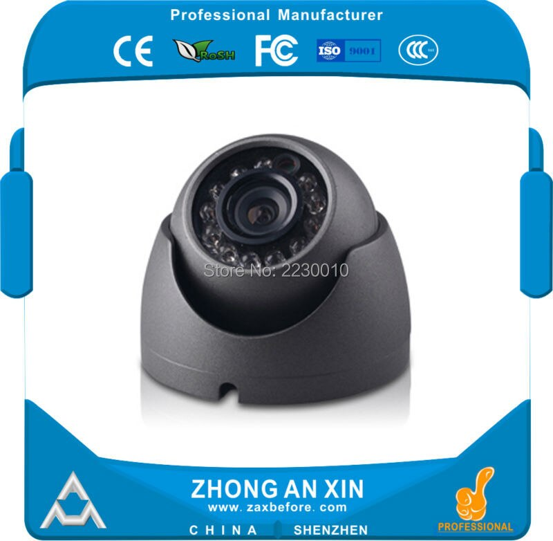 ZhongAnXin AHD 720P 1.3MP IR visión nocturna Metal Mini domo coche cámara para cabina SEGURIDAD DEL VEHÍCULO Cámara Bus Taxi Cámara