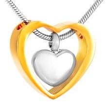 IJD8078 DIY Charm Heart Memorial Ash Keepsake Locket Cremation Urn Funeral Jewelry Pendant Necklace Fashion Jewelry