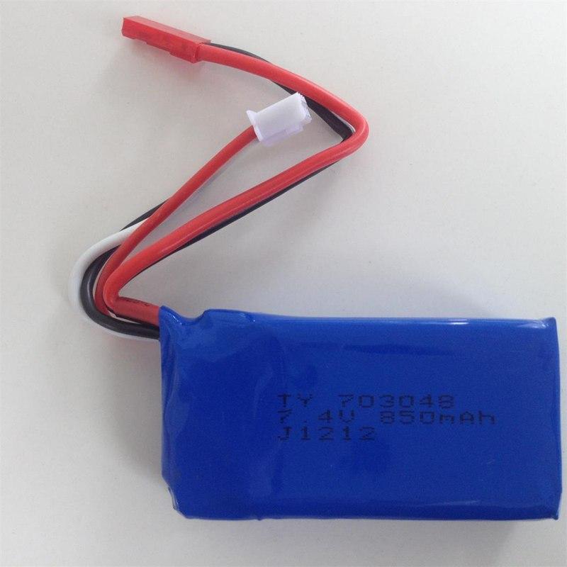 Nuevo Producto, batería li-po de 7,4 v, 850mah para MJX F46 Wltoys V912 V262 V353B Udi U829X 2,4G RC helicóptero/Quadcopter