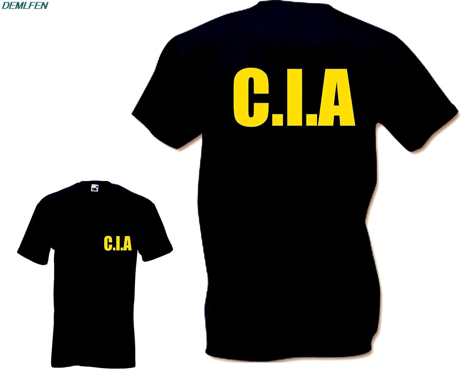Camiseta de la CIA-divertida camiseta Retro Criminal FBI Feds USA Fancy Dress Drugs Cool Tees camisetas de verano de manga corta para hombres