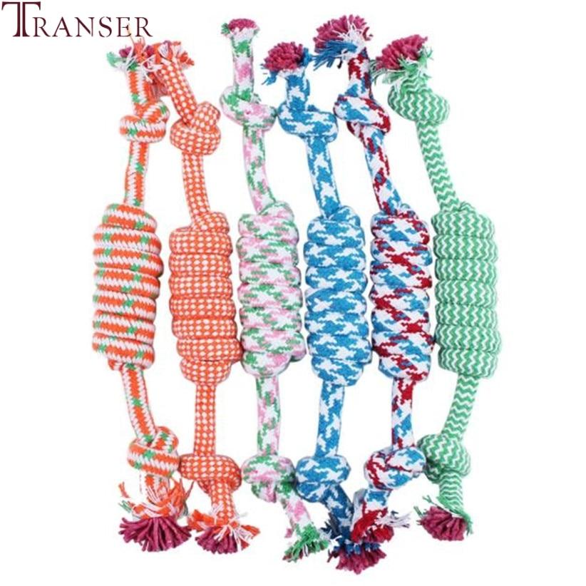 Transer suministro para mascotas cuerda para masticar juguete al aire libre entrenamiento divertido jugando a los perros gatos juguetes para perros pequeños grandes 71229