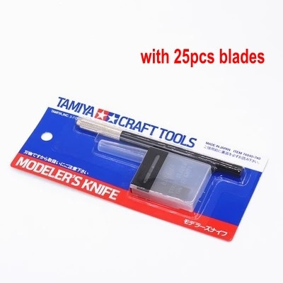 Tamiya-cuchilla para manualidades, modelo de cuchillo con 25 uds. De cuchillas, Kit de manualidades, modelo de herramientas Tamiya 74040, Envío Gratis