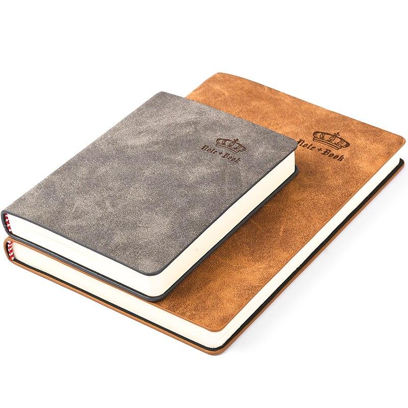 RuiZe Oficina papelería A5 Bloc de notas organizador de papel grueso cuero cuaderno cubierta A6 negocios Bloc de notas agenda planificador nota libro