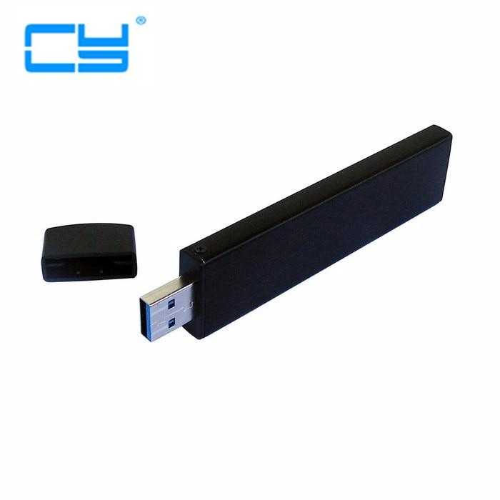 1 uds/80mm NGFF M2 SSD a USB 3,0 USB3.0 PCBA externo transportador adaptador tarjeta flash disco tipo con funda negra