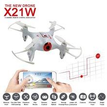 SYMA X21W Mini drone with camera WiFi FPV 720P HD 2.4GHz 4CH 6-axis RC Helicopter Drone Altitude Hold RTF Remote Control Toys