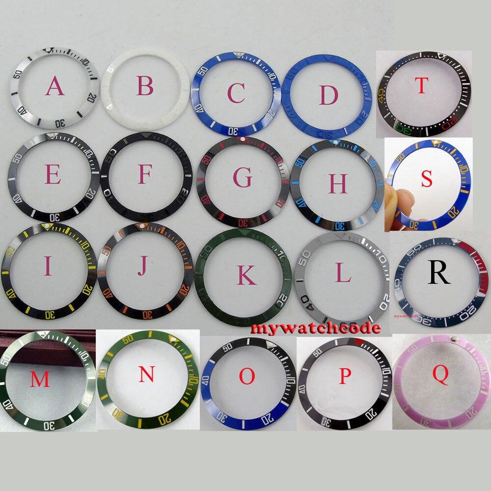 38 мм черные, синие, белые, зеленые керамические Безель вставка для парниса мужские часы, изготовленная фабрика parnis