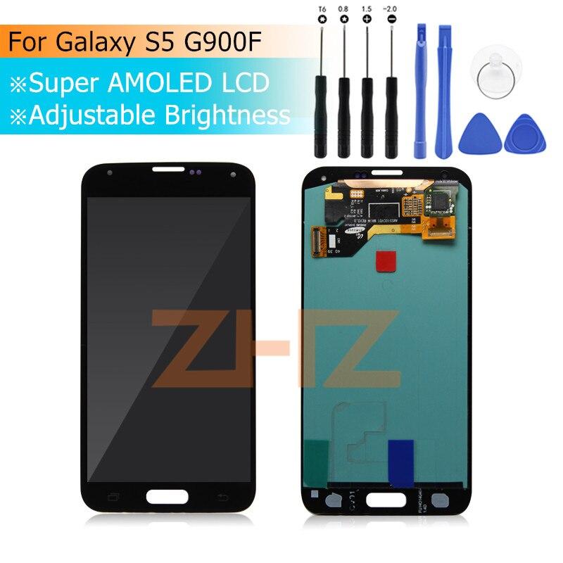 Para Samsung Galaxy S5 G900F LCD Screen Display Toque Digitador Assembléia para Samsung Galaxy S5 G900M G900I G900M Display LCD