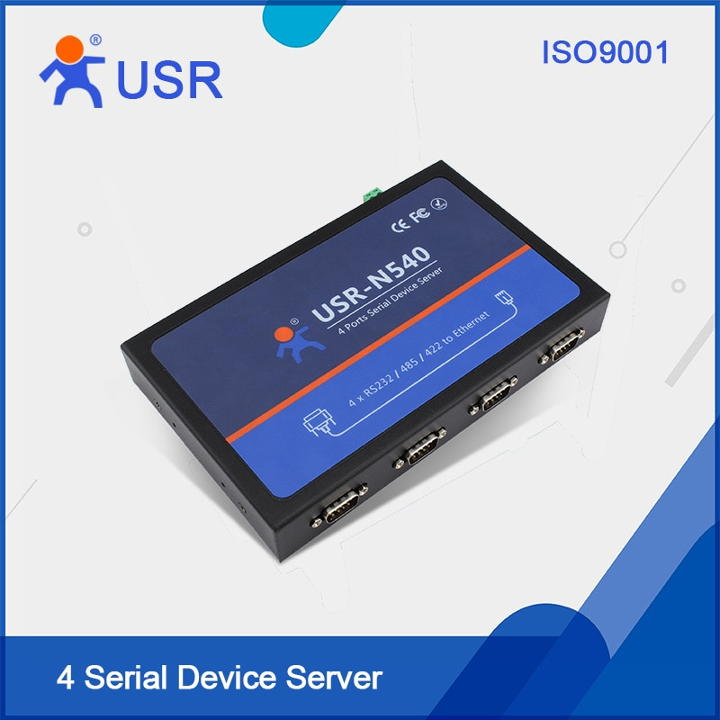 USR-N540 serie a Ethernet convertidores 4 puertos RS232/RS485/RS422 a Ethernet convertidores con CE FCC RoHS