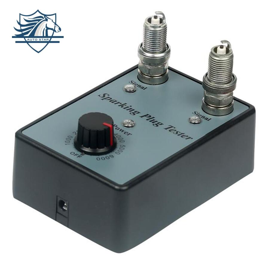 Dual Hole Car Spark Plug Tester Ignition Plug Analyzer Diagnostic Tool Automotive Spark Plug Detector Double Hole Analyzer