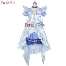 Halloween Smile PreCure! Glitter Force Glitter Lucky Aoki Reika Dress Princess Cosplay Costume High Quality Custom Made