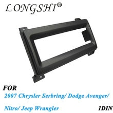 1dinCar Radio Fascia for2007 Jeep Wrangler/ Chrysler Serbring/Dodge Avenger/ Nitro Dash Mount Kit Adapter Trim Facia Panel Frame