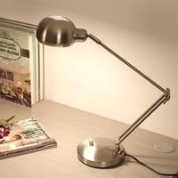 Black/Silver Modern Led Table Lamp with Adjustable Arm Eye protection Desk lamp E27 Edion Bulb for Reading Night light lamp 220V
