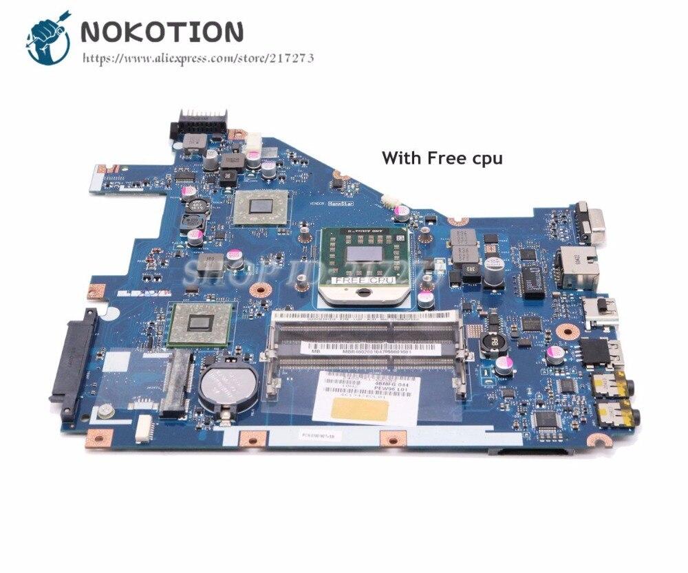 NOKOTION, placa base de ordenador portátil para Acer aspire 5552G 5552 Tablero Principal NV50A MBR4602001 PEW96 LA-6552P cpu gratis