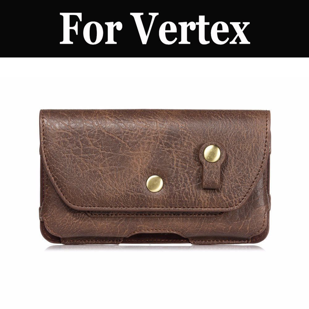 Мягкая кожаная мужская поясная сумка, зажим для ремня, чехол-накладка для Vertex Impress More Nero, открытая груша, Play Razor Saturn U Too X Bear