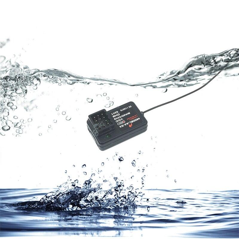 FATJAY, receptor del barco de control remoto de 2,4G, 3CH, AX-5X de TG-3 para el transmisor de control remoto AUSTAR AX5S, versión a prueba de agua disponible