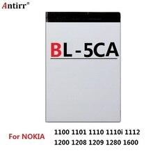 BL-5CA запасная батарея для Nokia 1100 1101 1110 1110i 1112 1200 1208 1209 1280 1600 батареи для мобильного телефона