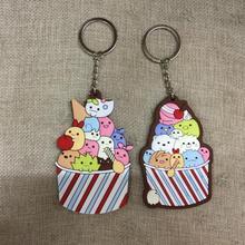 IVYYE Sumikko gurashi Style Anime Key Chain PVC Figure  Keyring cute Toy Keychain Keyholder Birthday Gifts Unisex NEW
