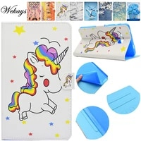 wekays for samsung tab a 2016 t280 cartoon unicorn leather flip case for samsung galaxy tab a a6 7 0 t280 t285 tablet cover case