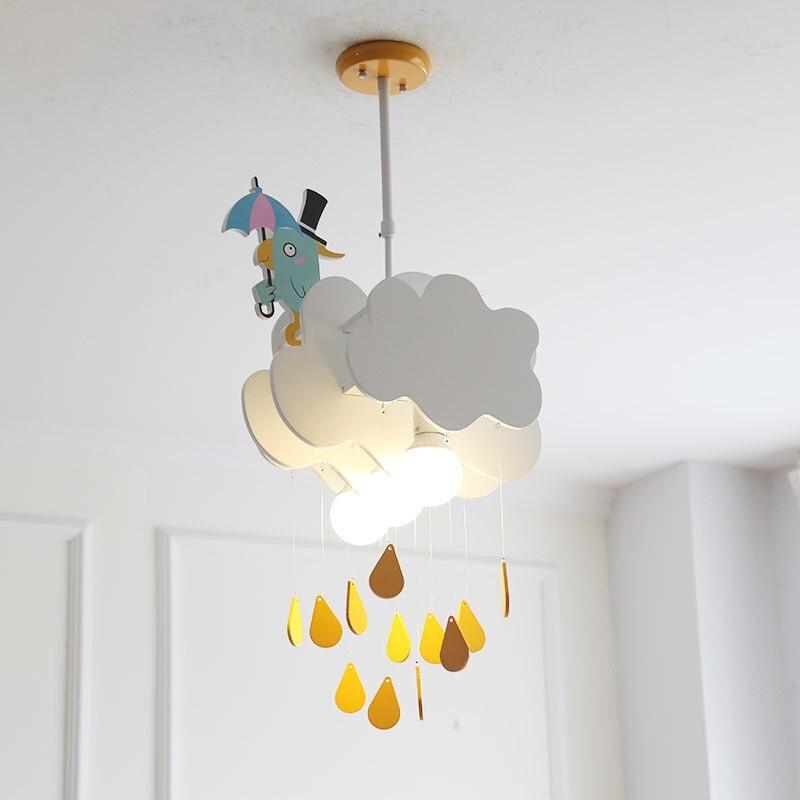 الكرتون خلق سحابة قلادة أضواء الصبي فتاة غرفة نوم الأطفال غرفة أضواء الشمال الحد الأدنى غرفة المعيشة قلادة مصباح معلق