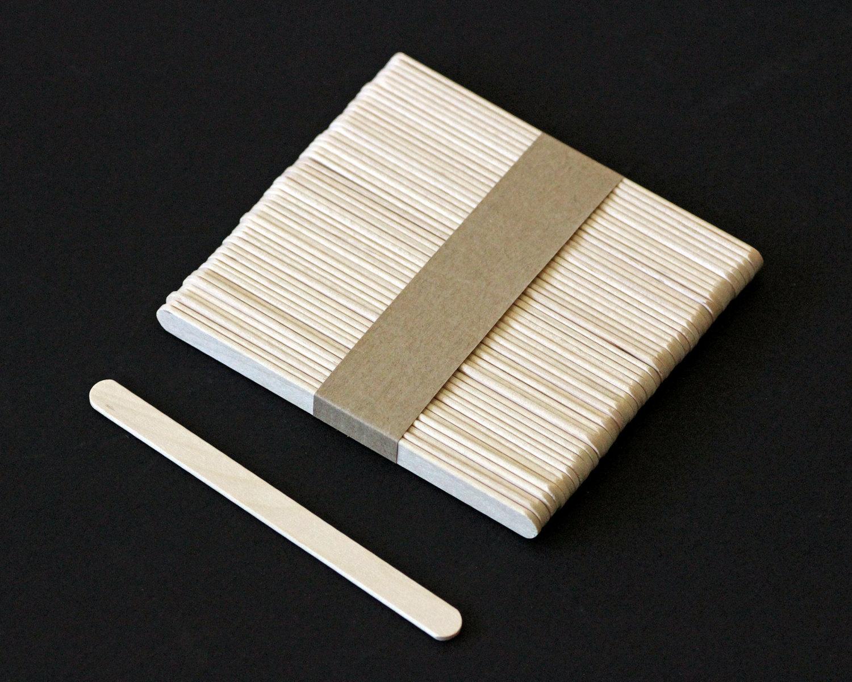 x50 Flat Ice Cream Sticks popsicle Stick 114mm Ice Lolly Lollipop Crafts Model Grade A Ice Cream Tools Birch Wood