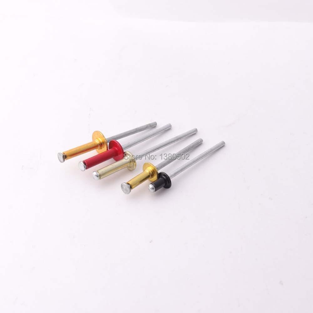 50 шт., Разноцветные алюминиевые заклепки для украшения ногтей, Популярные Заклепки, аксессуары