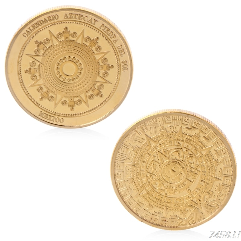 Calendario maya Chapado en plata recuerdo de México monedas sin moneda colección de monedas conmemorativas Token G22 Envío Directo