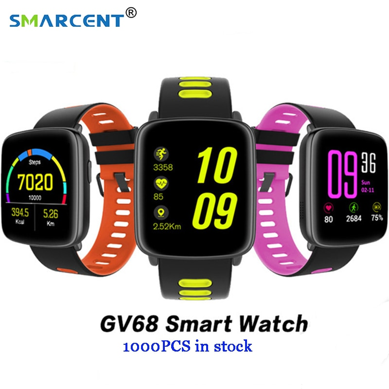 GV68 Smart Watch Bracelet IP68 Waterproof Bluetooth 4.0 MTK2502 SmartWatch Wearable device Heart Rate Monitor for iPhone Android